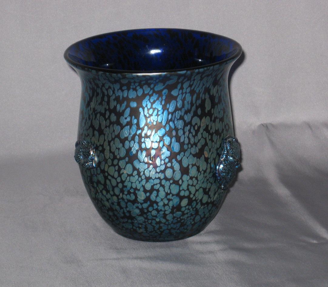 Beautiful Papillon Oil Spot Vase